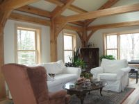 New England Custom Timber Frame Cabin with Cathedral ...