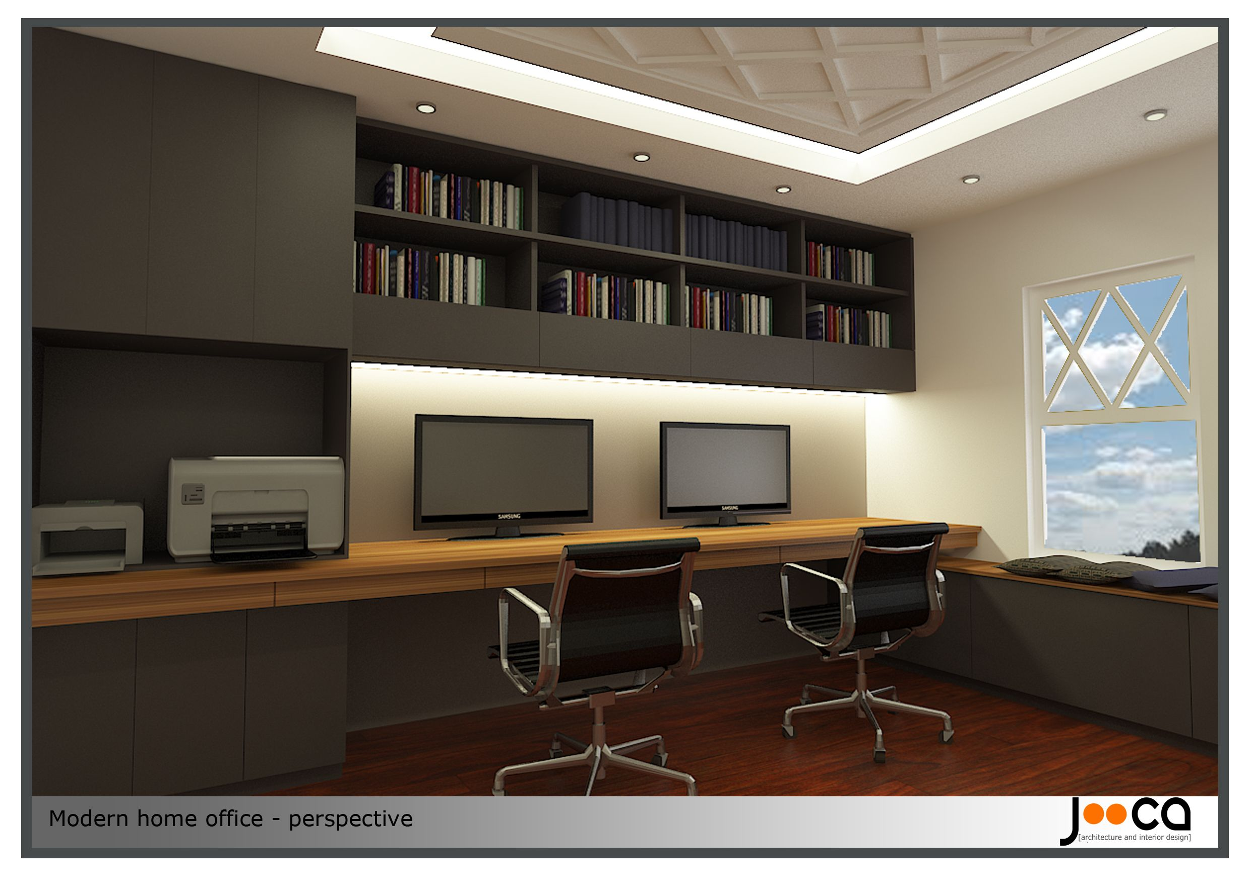 Contemporary Office Home Office Design Project Designed By Jooca