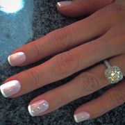 french manicure with blush pink
