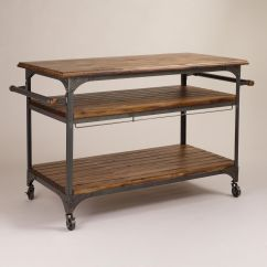 Industrial Kitchen Table Cherry Wood Island And Metal Jackson Cart Carts