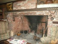 Our greatroom walk-in fireplace! It can heat the whole ...