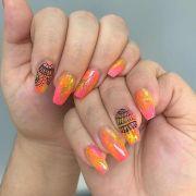 fall acrylic nail art design 2016