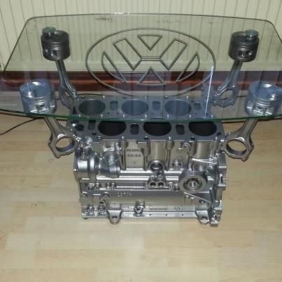 A perfect VR6 engine block being humiliated as a coffee