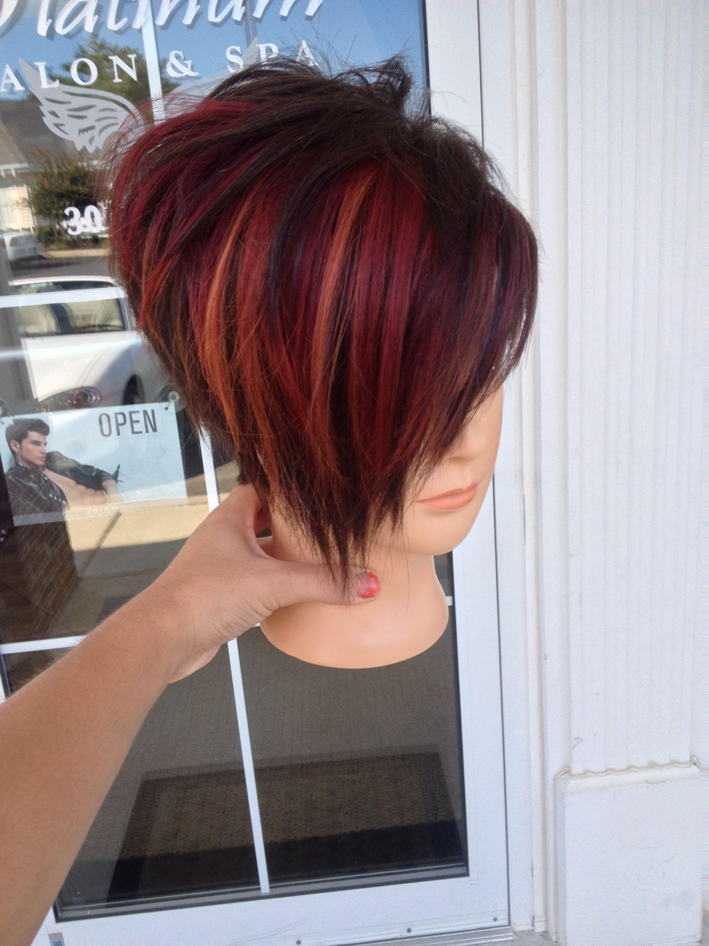 Short funky haircut and fun joico colors HAIR
