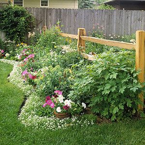 Garden And Landscaping Edging Ideas Gardens Rails And Rail Fence
