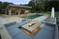 MODERN FIRE PIT OUTDOOR LOUNGE AND POOL HOUSE | Outdoor ...