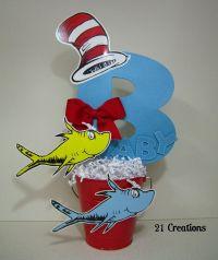 Dr. Seuss Centerpiece for baby shower   Decoracion ...