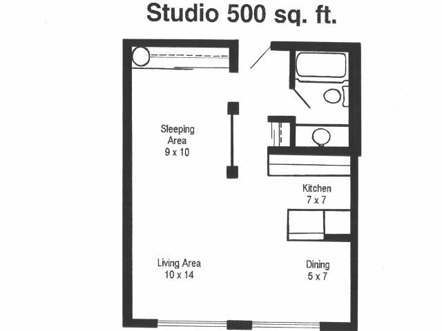 Studio Apartment Floor Plans 500 Sqft: Bluffs Brochure