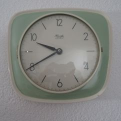 Retro Kitchen Wall Clock Cabinet Cleaner Art Deco Vintage Kienzle German