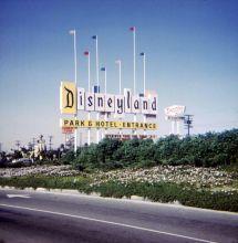 Original 1955 Disneyland Sign. Little