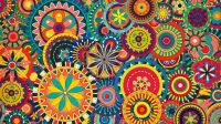14107-colorful-floral-pattern-1920x1080-vector-wallpaper ...