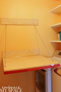 Fold Down Laundry Room Folding Table | Folding tables ...