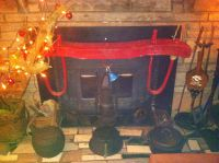 Primitive country fireplace decor