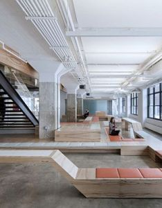 Its new digs designed by york     architecture are cool mix of industrial scale open space square feet in total on three floors also office google search broeinest pinterest rh