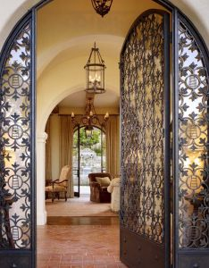 Spanish style hacienda in carmel valley showcases inviting design also rh pinterest
