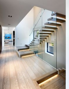 love the cool glass panes used stair railing villa pruhonice prague jestico whiles find this pin and more on new house ideas also staircase rh pinterest
