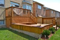 Pin Multi Level Backyard Deck With Planters And Benches ...