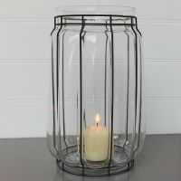 Extra Large Glass Hurricane Candle Holders | Candles ...
