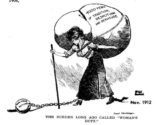 Woman's Rights Political Cartoon