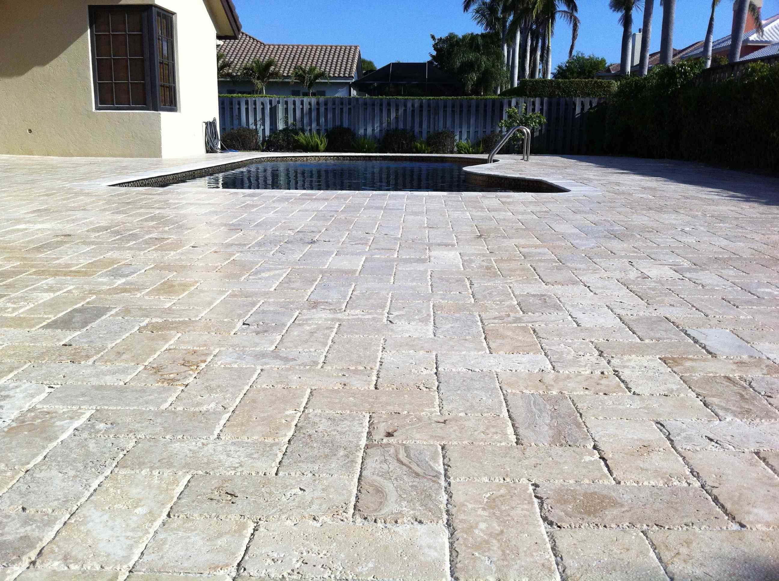 travertine pavers design ideas for patios  Pinterest is a