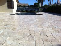 travertine pavers design ideas for patios   Pinterest is a ...