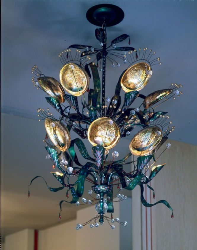 Tony Duquette Abalone Chandelier Created For His One Man Exhibition At The Los Angeles County Museum Of Art Now Available Through Baker Furniture