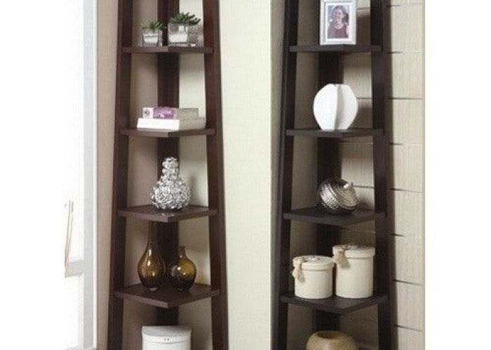 Corner shelves are great for eliminating dead pockets of space in the corners walls or also eliminate shelf and
