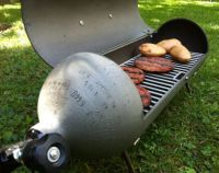 The Scuba Tank Grill - good use for old air tanks ...