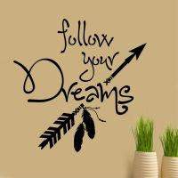 Follow your Dreams Decal | Vinyl Wall Lettering | Wall ...