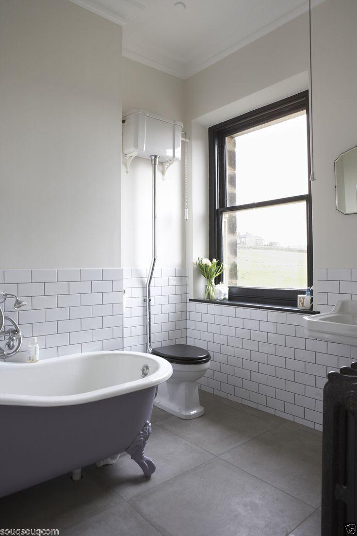 white bathroom wall panels