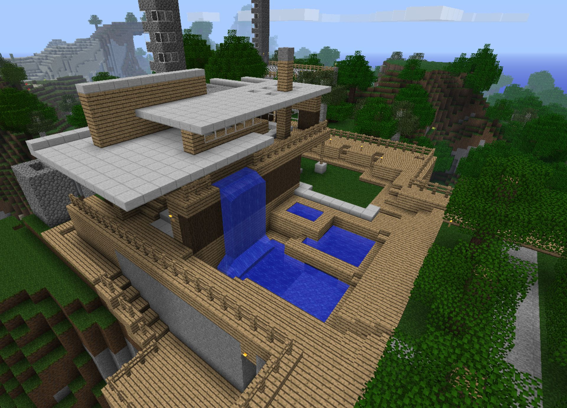Cool Minecraft Houses Hd Background Wallpaper 24 HD Wallpapers