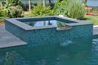 rectangle pools with spas | Rectangular Pool & Spa with ...