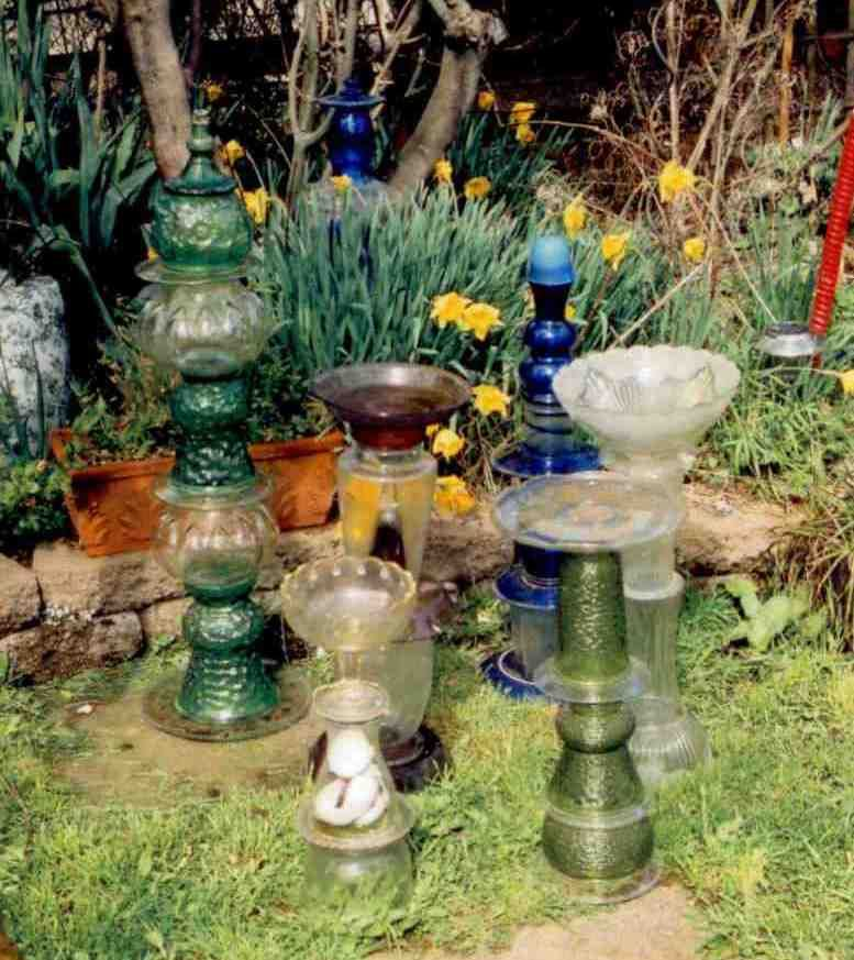Glass Garden Art Use Those Strange Ugly Unloved Bottles Bowls