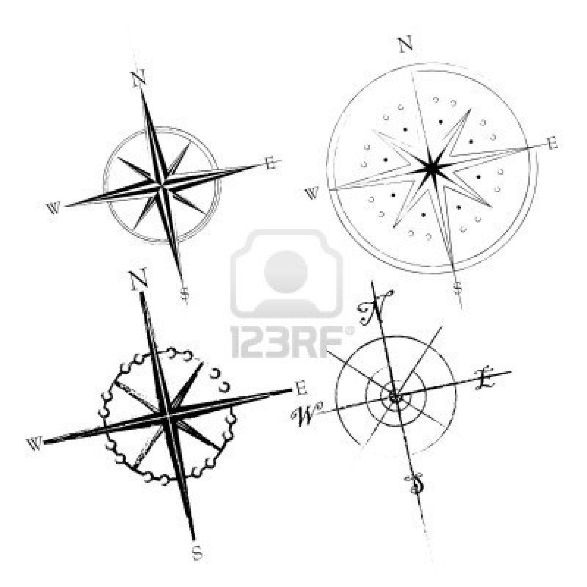Compass Rose Lower Right Corner With Simpler Script For
