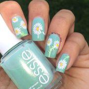 floral nail art ideas daisy
