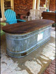 Water Trough Turned Table Dream Home