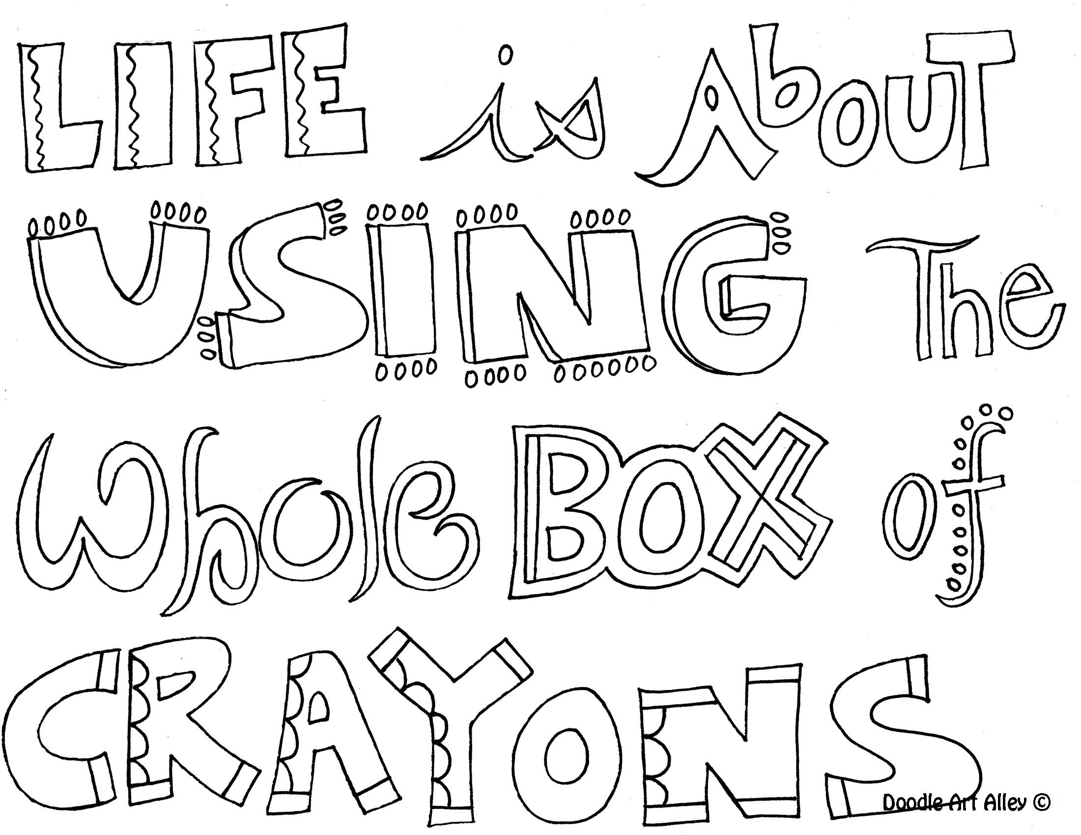 Quote Coloring Pages Printable