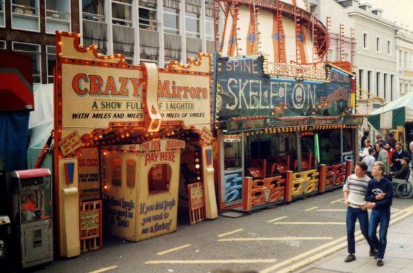 "Secret Fun British ""ghost Train"" Facades 1970s And 80s Amusement Parks"