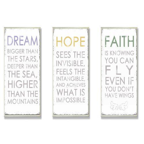 Found it at joss  main dream hope faith inspirational wall decor also rh pinterest