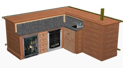 L Shaped Basement Bars Shaped Home Bar Plans Basement Bars
