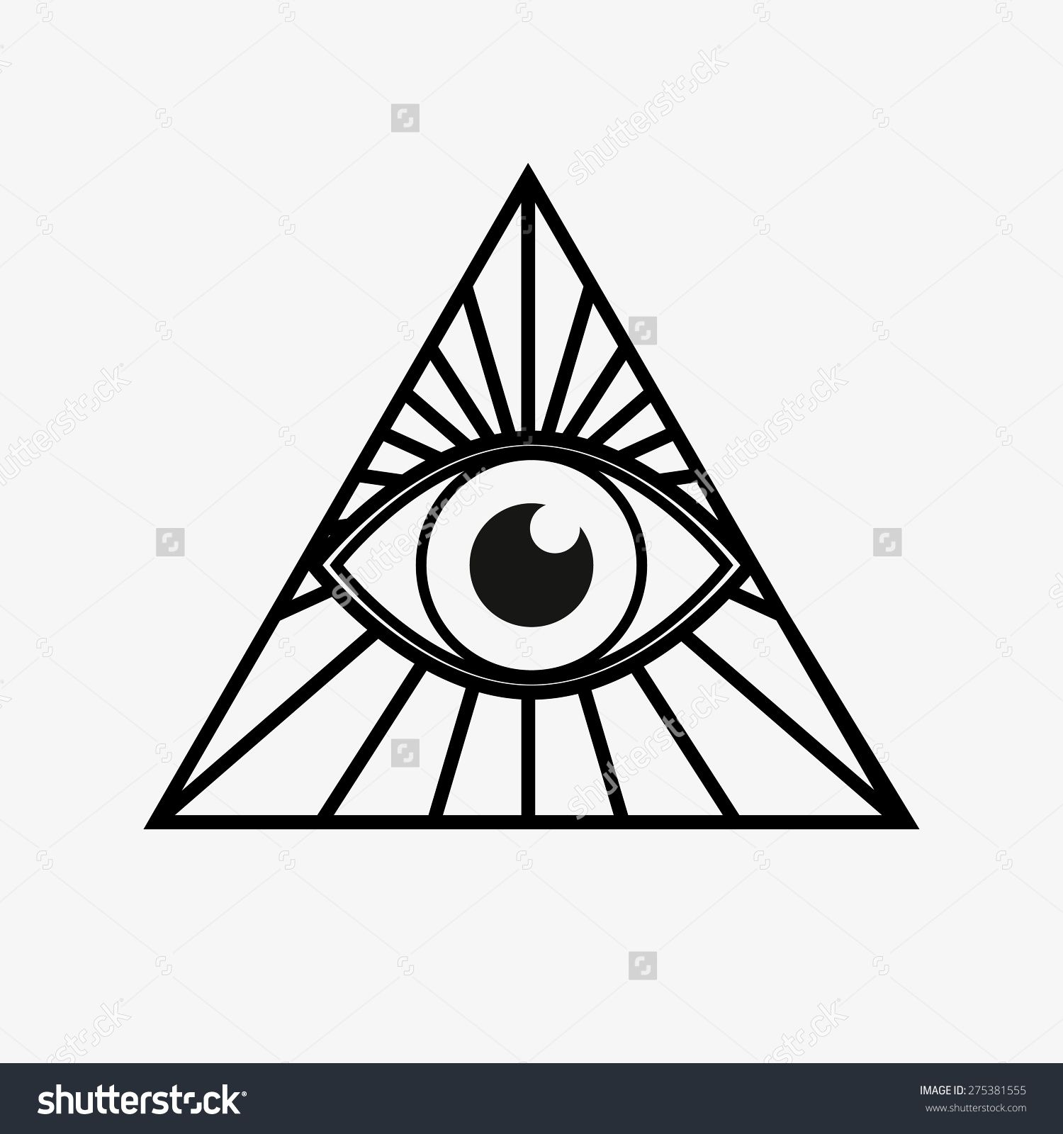 All Seeing Eye Pyramid Tattoo