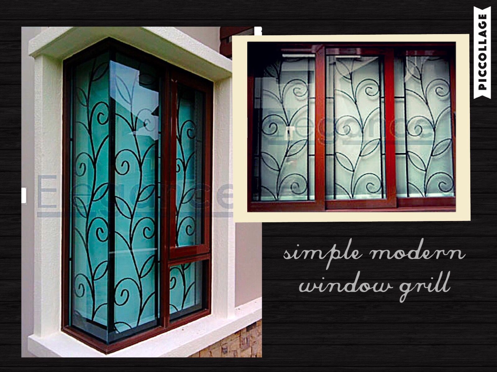 love the simple n modern design of this window grill