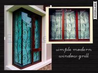 love the simple n modern design of this window grill ...