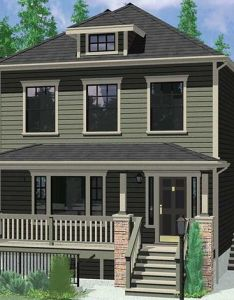 House front color elevation view for  multigenerational plans two master suite also rh pinterest