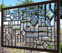Beveled Stained Glass Window by DebsGlassArt on Etsy, $250
