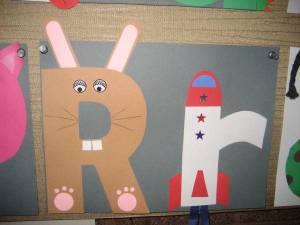 """""""rr"""" Letter Of Week Art Project Rabbit & Rocket Activities"""