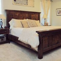 Our favorite DIY project to date - our handmade king bed ...