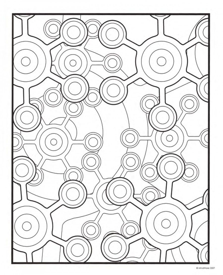 geometric coloring pages, printable geometric coloring