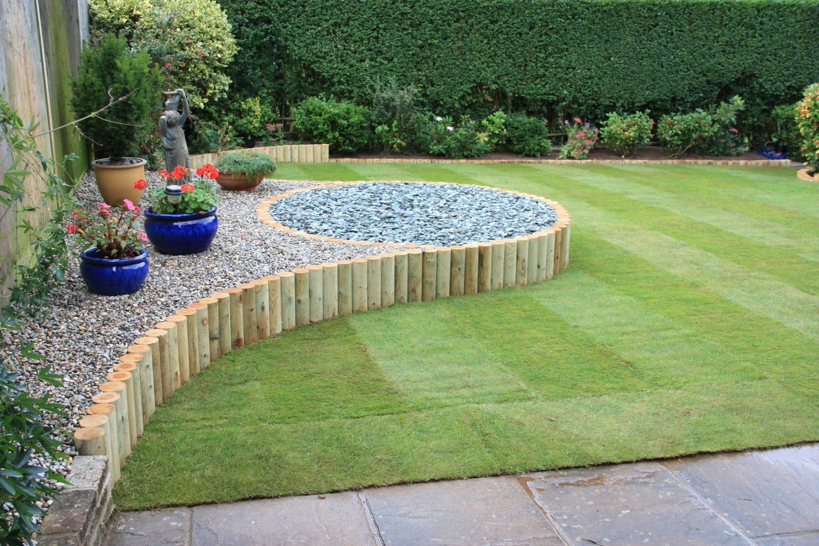 Simple Nice Rock Garden Landscape Design Beautiful And Lovely