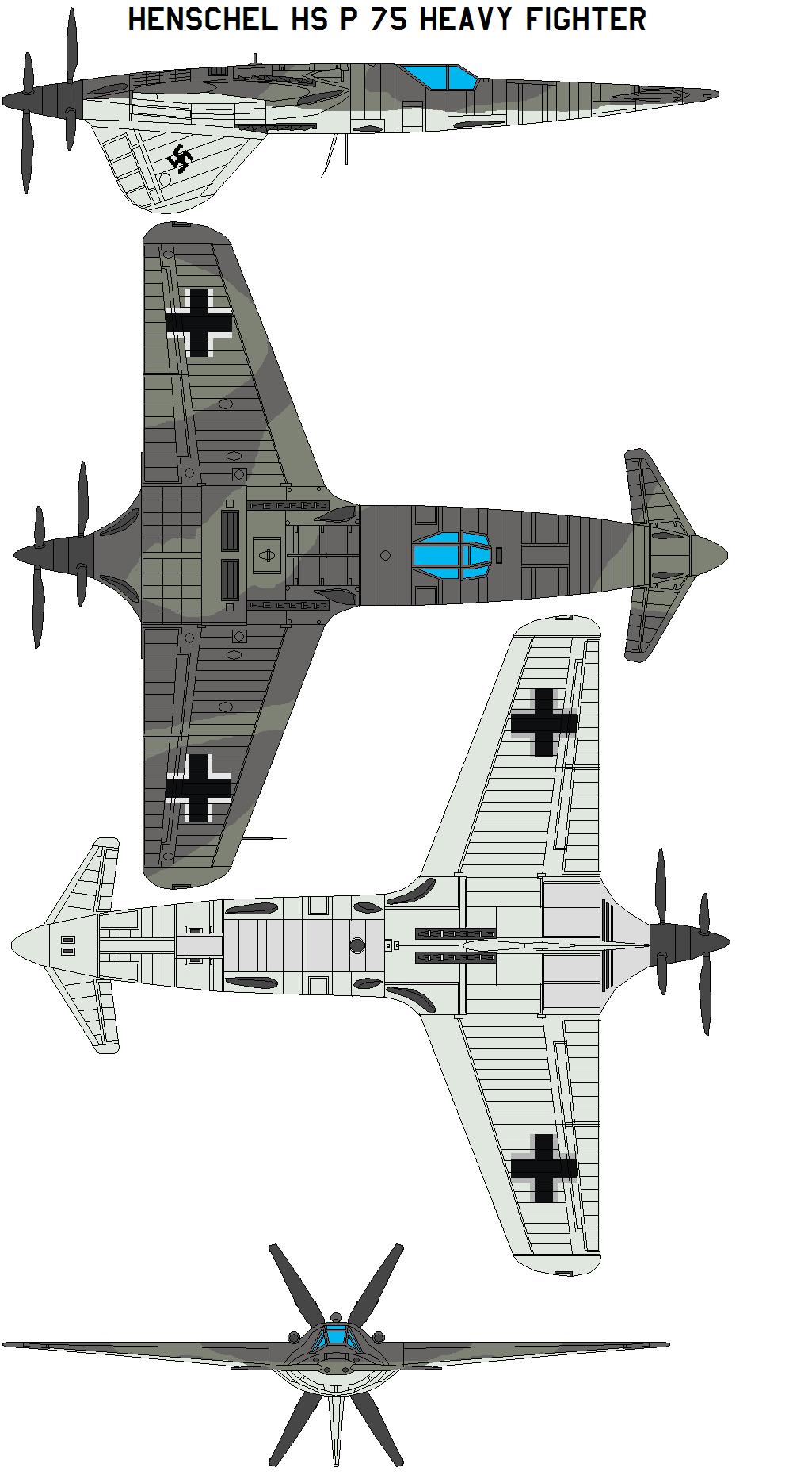 Henschel Hs P 75 Heavy Fighter By Bagera On Deviantart